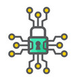 cyber security colorful line icon padlock vector image vector image