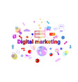 digital marketing concept business strategy vector image vector image