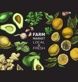 eco shop farm product sketch vegetables vector image