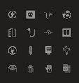 electricity - flat icons vector image vector image