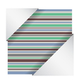 elegant striped card vector image vector image