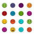 emoticon icons doodle set vector image