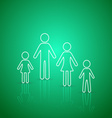 Family members outline icons vector image vector image