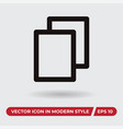 file icon in modern style for web site and mobile vector image vector image