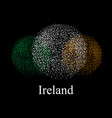 flag of ireland in the form of a round vector image vector image