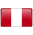 Flags Peru in the form of a magnet on refrigerator vector image vector image