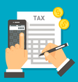 Flat design tax calculation vector image