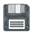 floppy disk data storage vector image