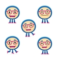 funny monster in various poses vector image vector image
