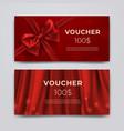 gift voucher design template set of premium vector image vector image