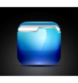 Glossy folder icon vector image