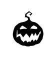 halloween of scary pumpkin jack face black vector image