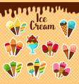 ice cream fresh desserts poster vector image vector image