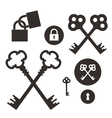 Key Lock Icon set vector image vector image