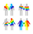 lgbt gay and lesbians homosexuals people couples vector image vector image
