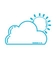 line nice cloud with sun tropical weather vector image vector image