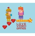 love online games princess and knight heart vector image