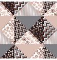 luxury rose gold xmas geometric seamless pattern vector image