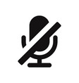 microphone off icon vector image vector image