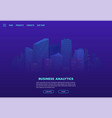 night city landing page vector image