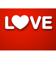 Paper white love heart vector image vector image