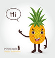 pineapple cartoon vector image