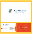 power plant logo design with tagline front and vector image