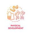 preschoolers physical development concept icon vector image