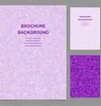 Purple triangle tile mosaic brochure template vector image