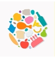 Quality Food icons Flat style logo vector image vector image