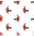 red metallic extinguisher seamless pattern vector image vector image