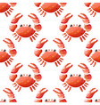 seamless pattern with cute cartoon crabs on white vector image vector image