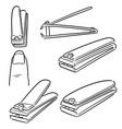 set of nail clipper vector image vector image