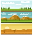 Set of picturesque landscapes vector image vector image