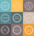set of premium labels vector image vector image