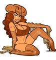 Sexy Leather Cowgirl vector image