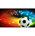 Shining soccer ball vector image vector image