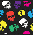 skulls seamless pattern background color skull vector image vector image
