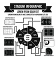 Stadium infographic elements simple style vector image vector image