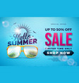 summer sale design with typography letter and vector image