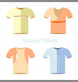 t-shirt models cloth wear vector image