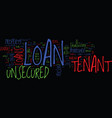 tenants end your hunt for loan unsecured tenant vector image vector image
