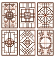 Traditional korean door and window ornament vector image vector image