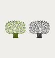 tree logo or symbol nature ecology environment vector image vector image