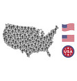 united states map stylized composition of vector image