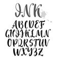 uppercase alphabet vector image vector image