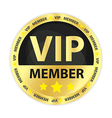 VIP Member Golden Badge vector image