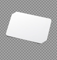 White Card Template vector image vector image