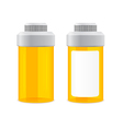 yellow empty cans vector image