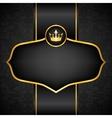 Royal black background vector image